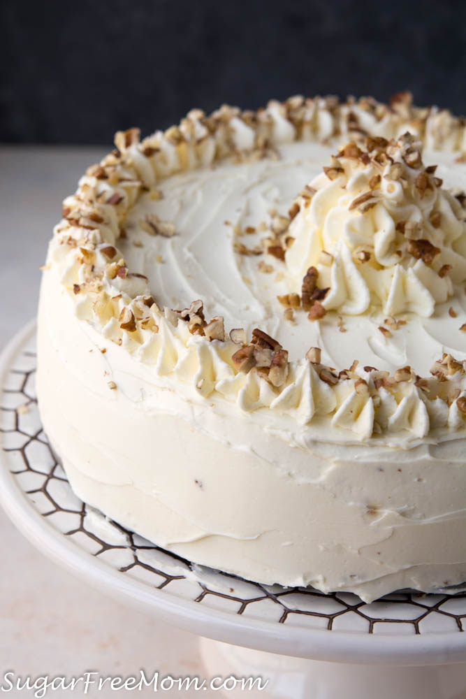 low carb carrot cake cheesecake