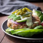 Low Carb Poblano Pork Burgers with Jalapeno Ailoli