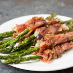 Grilled Cheesy Prosciutto Wrapped Asparagus