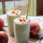 Low Carb Peaches and Cream Protein Smoothie