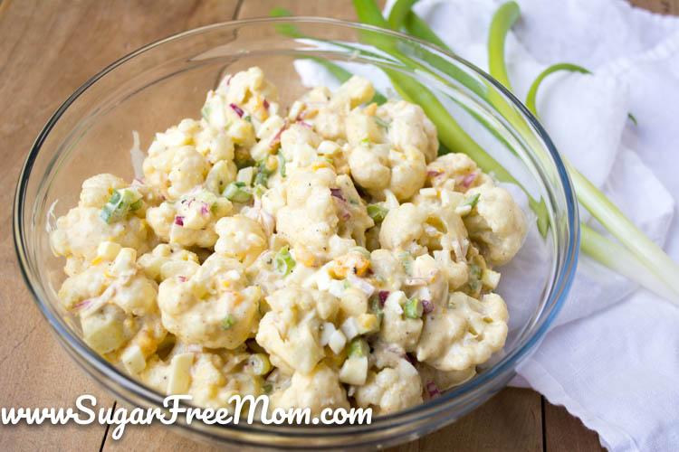 Cauliflower Potato Salad With Dill Pickles