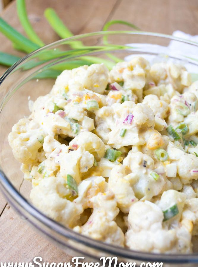 Low Carb Cauliflower Mock Potato Salad