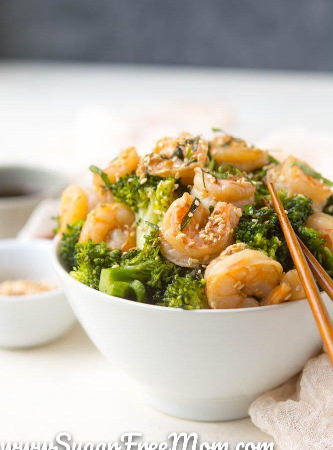 Sugar-Free Sesame Shrimp Stir Fry