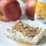Keto Low Carb Caramel Apple Cheesecake Bars