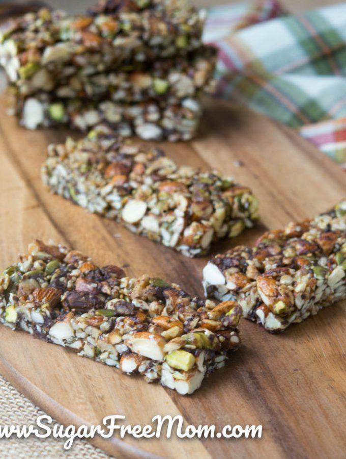 low carb sugar free granola bars