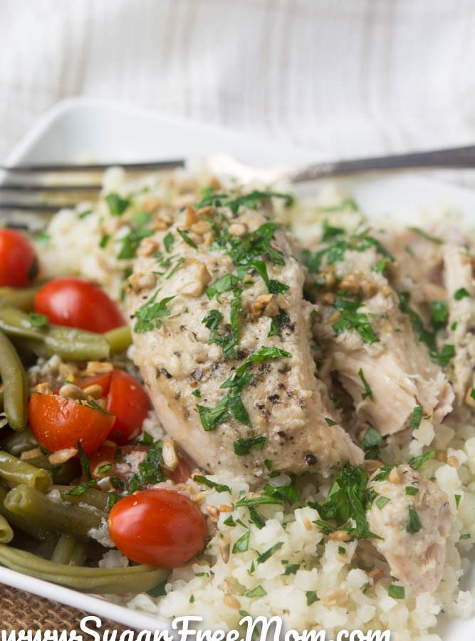 Slow Cooker Tahini Chicken Thighs (Low Carb and Gluten Free)