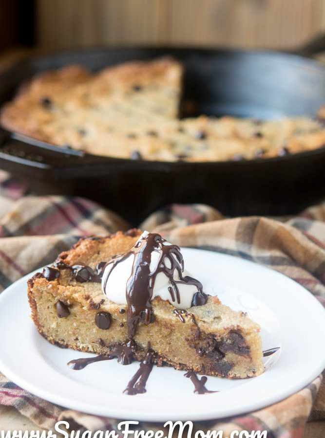 Low Carb Chocolate Chip Skillet Cookie (Nut Free)