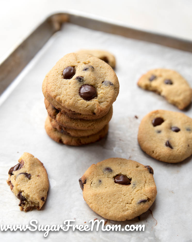 Almond Flour Low Carb Chocolate Chip Cookies