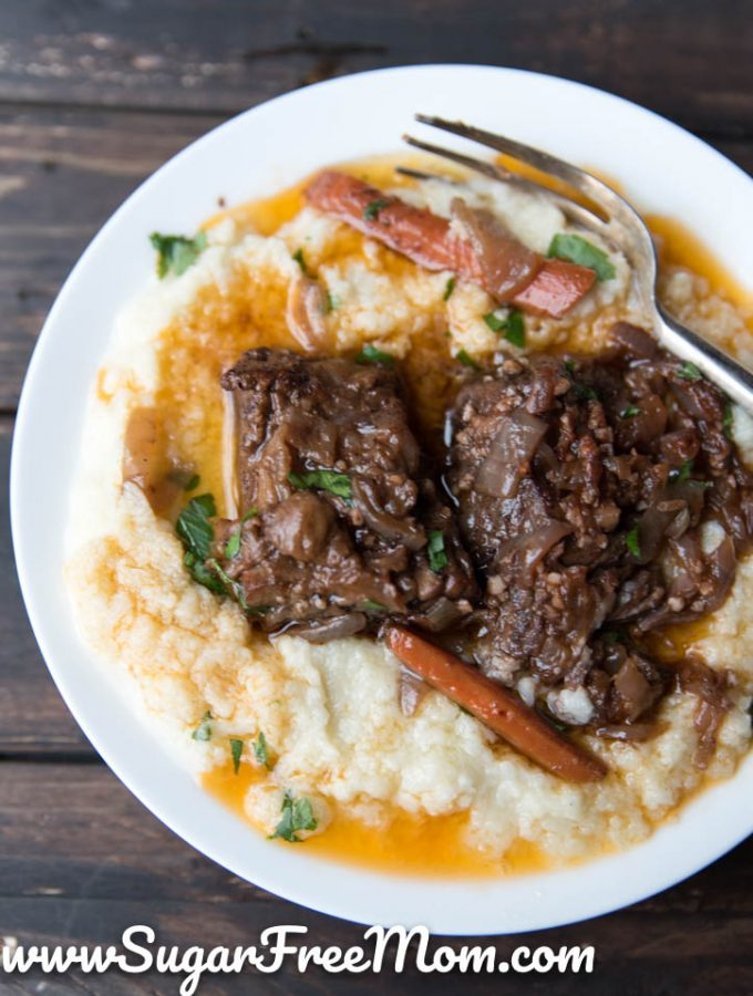 Slow Cooker Low Carb Beef Short Ribs (Paleo, Keto)