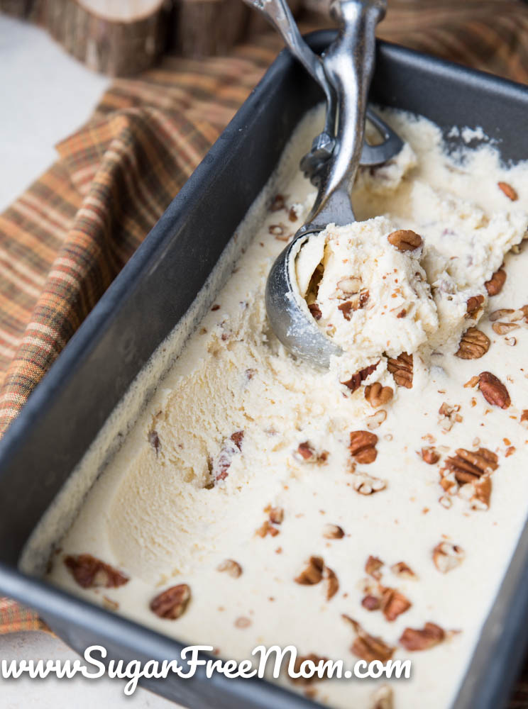 Keto low carb butter pecan ice cream for Homemade butter pecan ice cream recipe