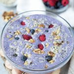Low Carb Blueberry Protein Smoothie Bowl