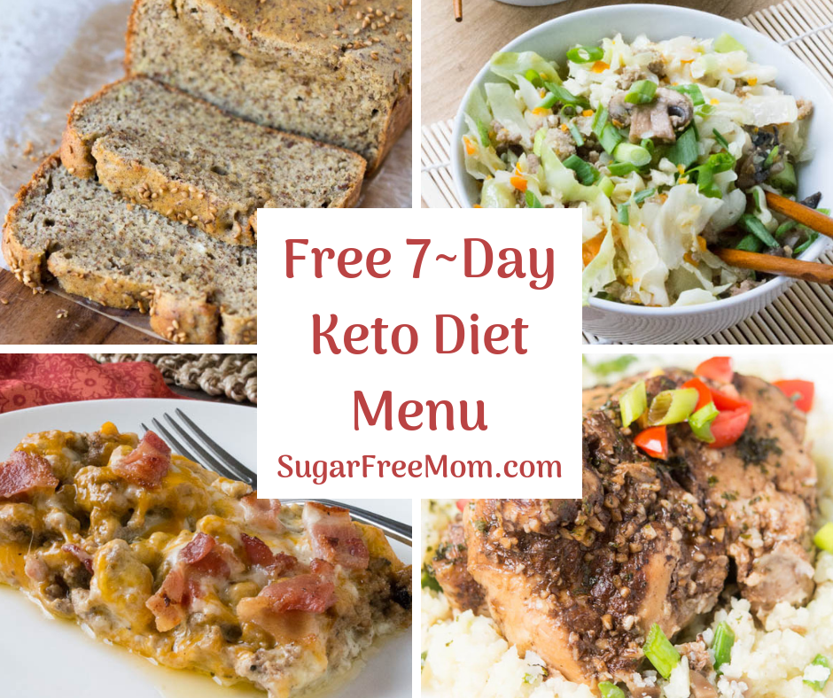FREE 7 Day Keto Diet Menu Plan
