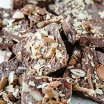 Keto Chocolate Almond Crunch Fat Bomb Bark