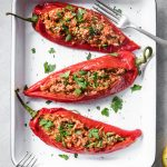 Low Carb Keto Mediterranean Stuffed Peppers