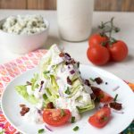 Keto Iceberg Wedge Salad with Keto Blue Cheese Dressing
