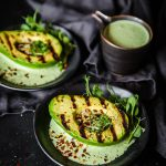 Char Grilled Avocado with Creamy Herb Dressing (Keto, Sugar Free, Low Carb)
