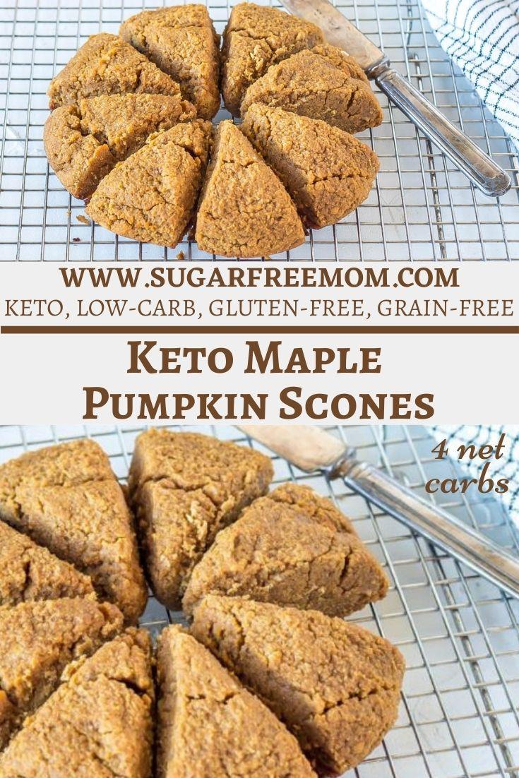Keto Maple Pumpkin Scones (Gluten Free, Low Carb, Nut Free Option)