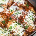 Keto Skillet Chicken Parmesan (Nut Free, Low Carb)