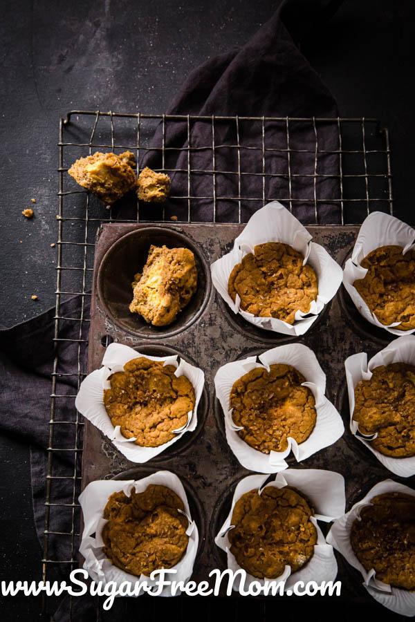Keto Pumpkin Cream Cheese Muffins Nut Free