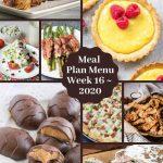 Low Carb Keto Meal Plan Menu Week 16