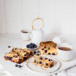 Sugar Free Keto Blueberry Coffee Cake (Nut Free, Gluten Free)