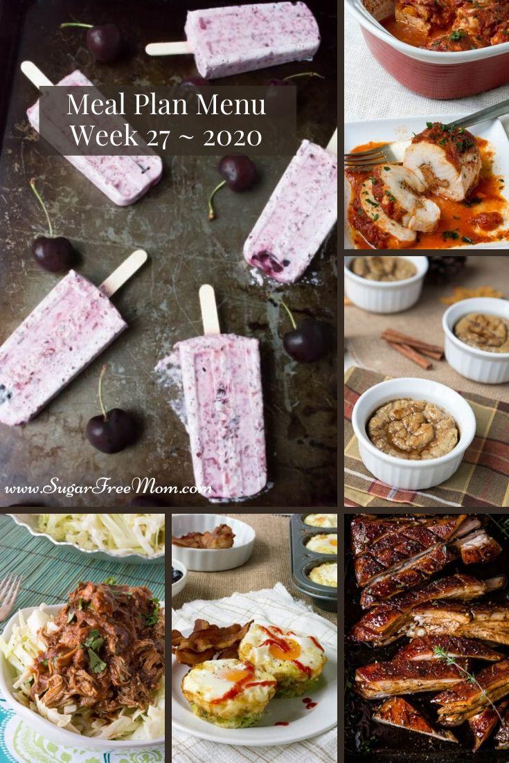 Menu do plano de refeições com baixo teor de carboidratos Semana 27 21
