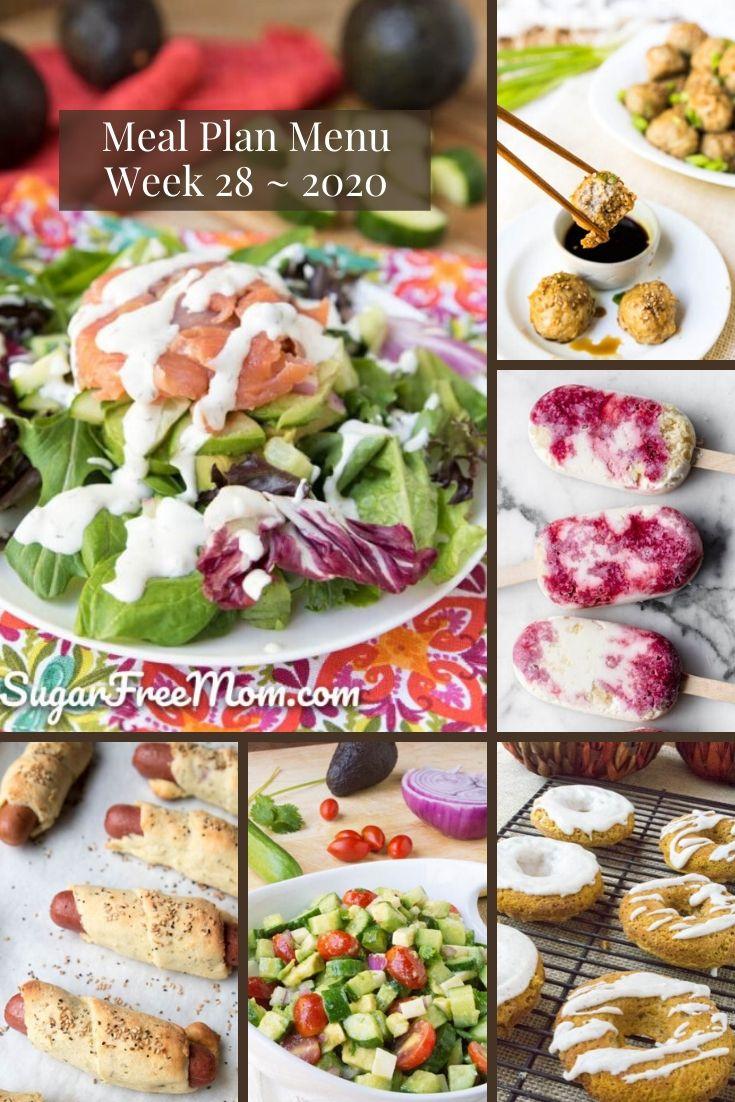 Menu do plano de refeições com baixo teor de carboidratos - Semana 28 26