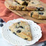 Sugar Free Keto Blueberry Scones (Nut Free, Gluten Free)