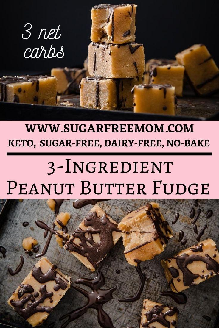 3 Ingredientes Fudge de Manteiga de Amendoim sem Açúcar 33