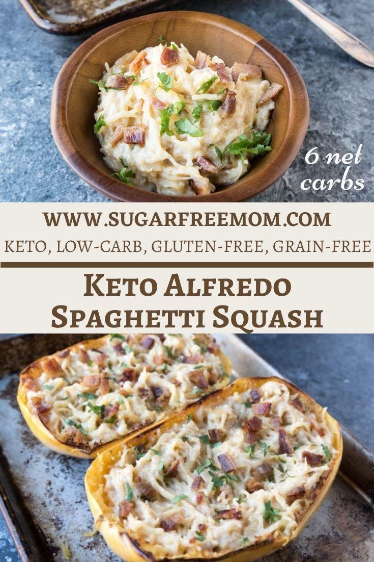 Low Carb Alfredo Spaghetti Squash