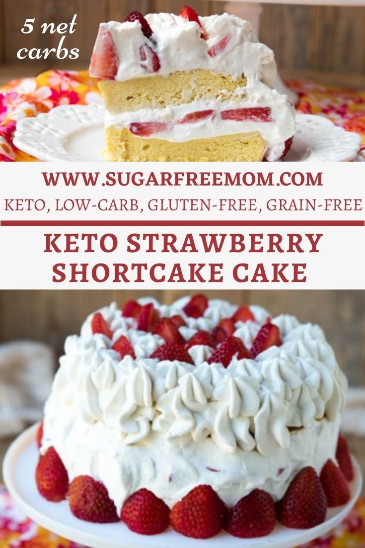 Keto Strawberry Shortcake Cake (Nut Free)