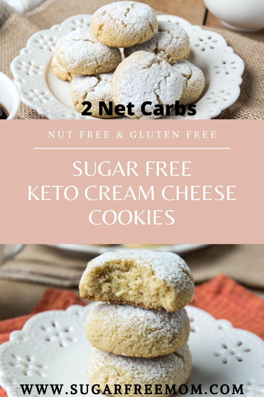 Sugar Free Keto Cream Cheese Cookies (Low Carb, Nut Free, Gluten Free)