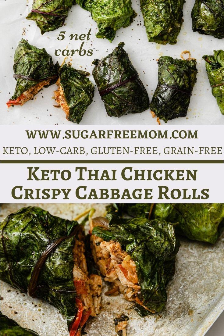 Keto Thai Chicken Cabbage Rolls