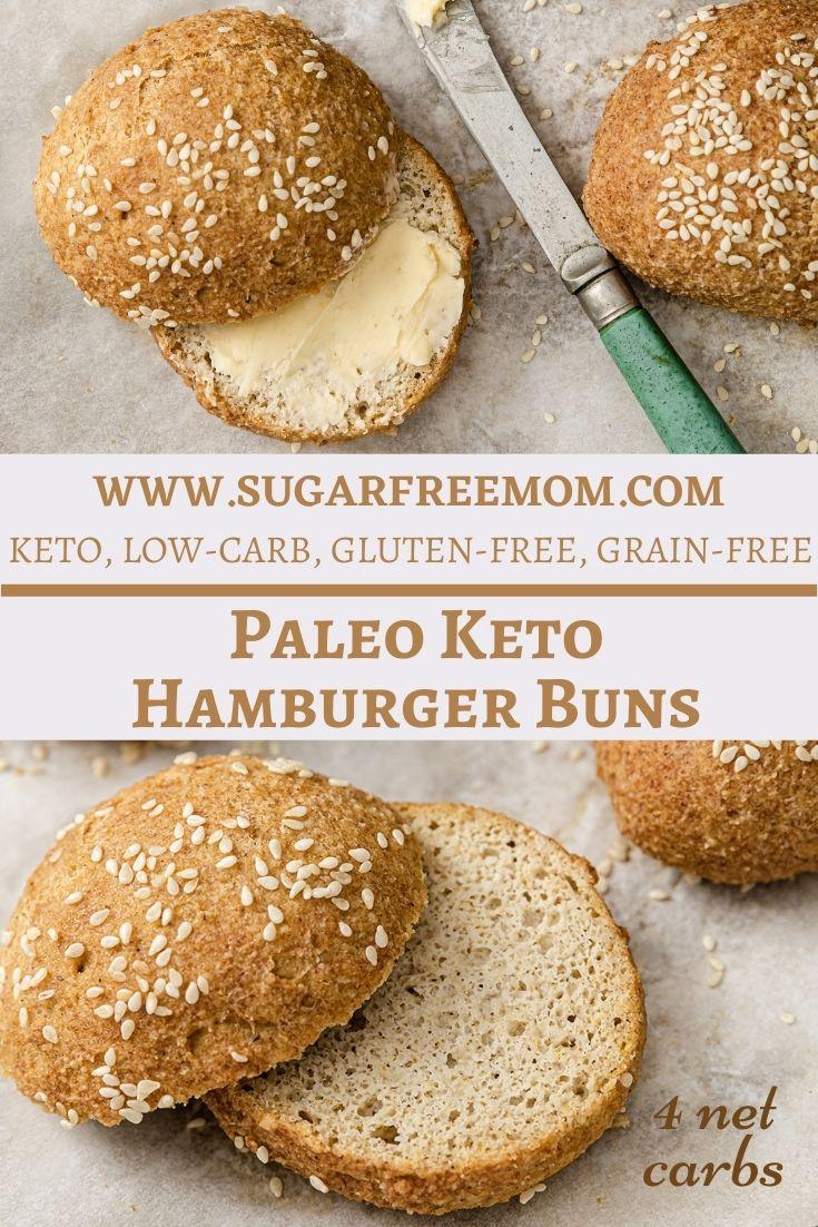 Paleo Keto Hamburger Buns (Gluten Free, Low Carb, Nut Free Option)