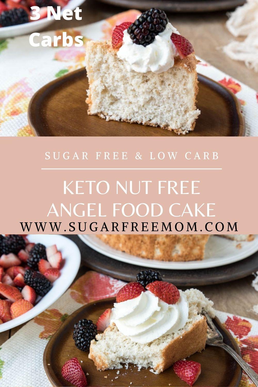 Sugar Free Keto Nut Free Angel Food Cake