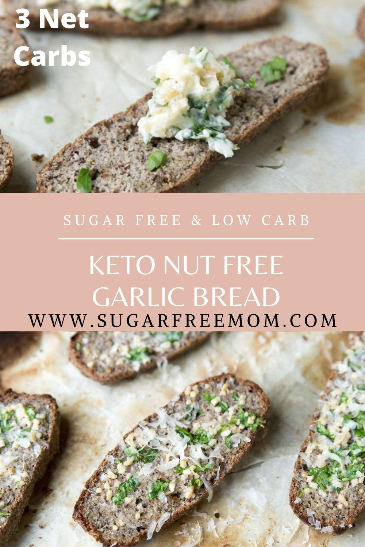 Keto Nut Free Garlic Bread