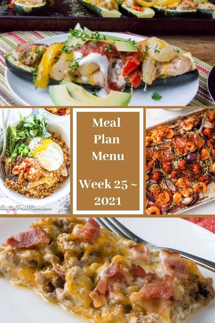 Week 25 Low Carb Keto Fasting Meal Plan Menu