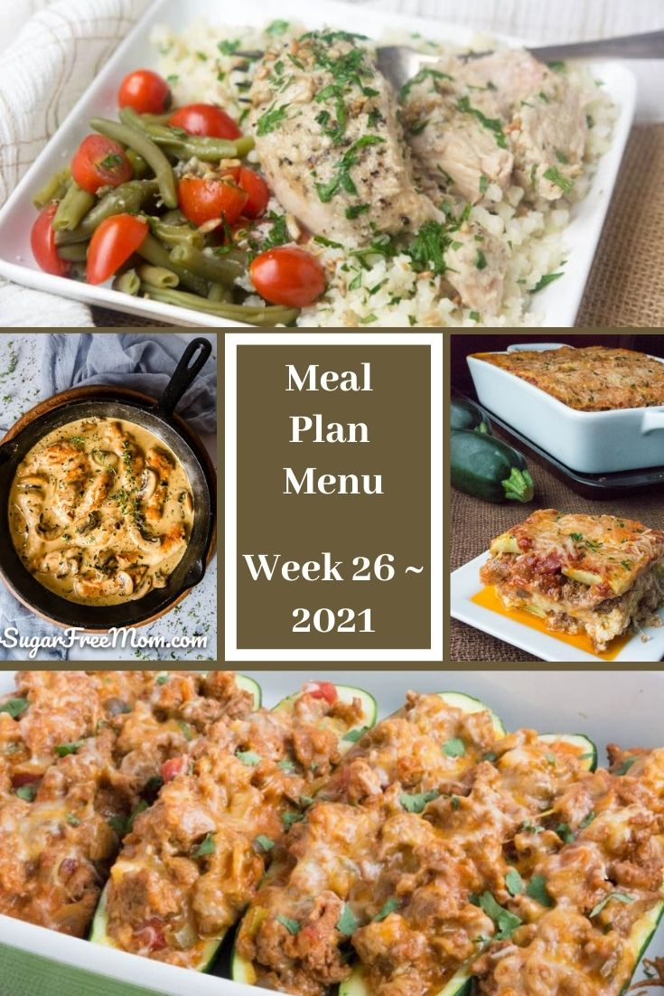 Week 26 Low Carb Keto Fasting Meal Plan Menu