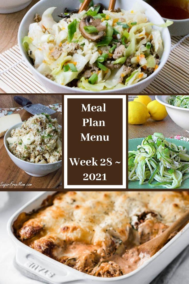 Low-Carb Keto Fasting Meal Plan Menu Week 28