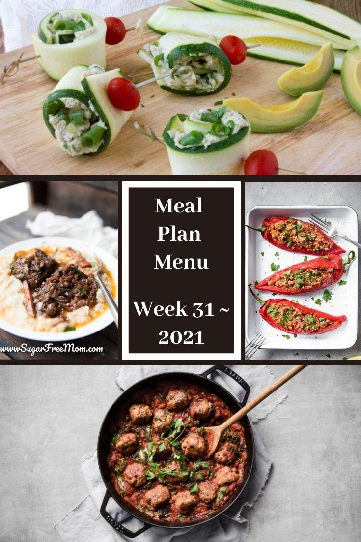 Low-Carb Keto Fasting Meal Plan Menu Week 31