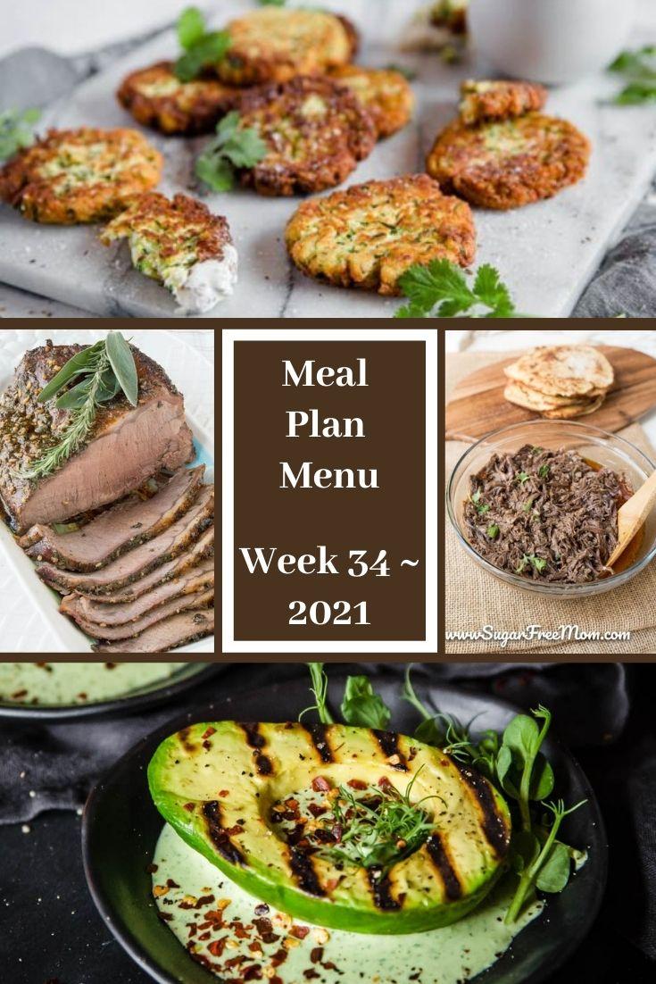 Low-Carb Keto Fasting Meal Plan Menu Week 34