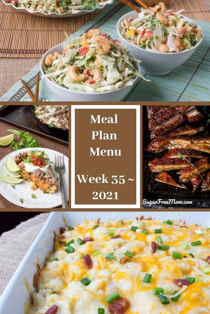 Low-Carb Keto Fasting Meal Plan Menu Week 35
