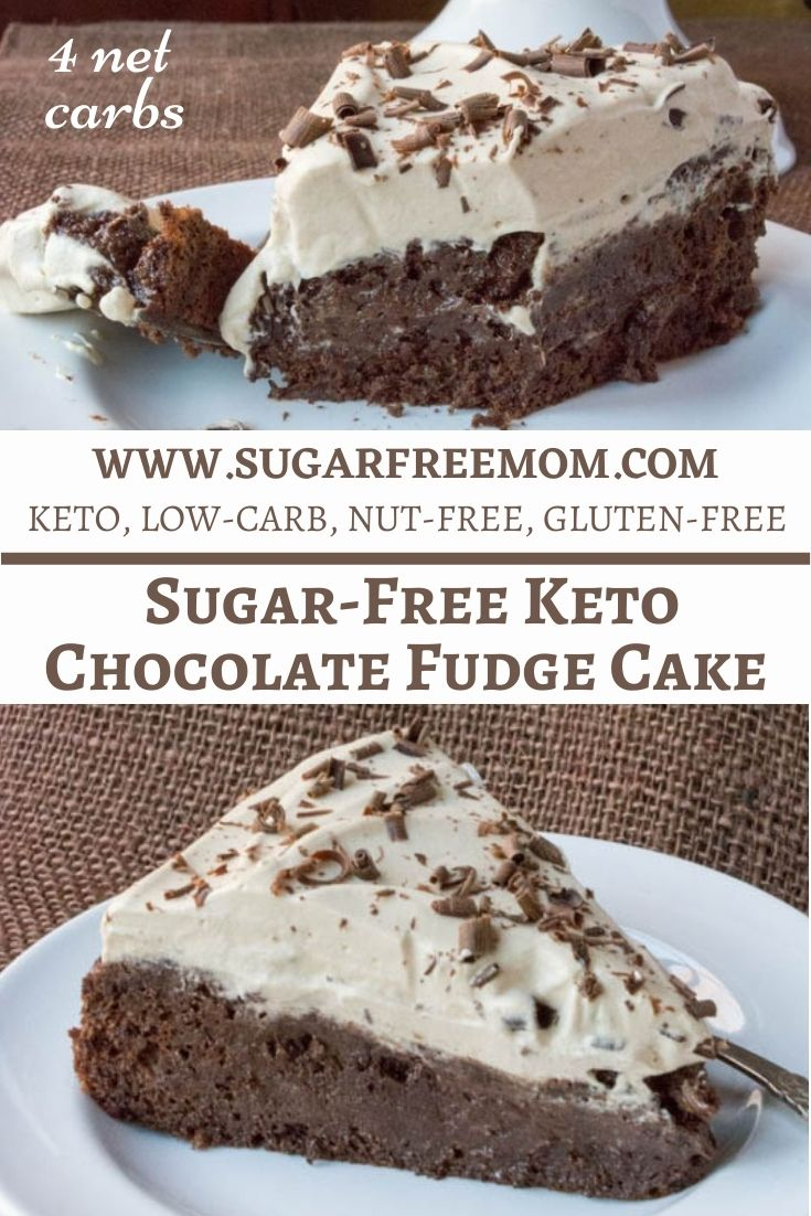 Sugar-Free Flourless Chocolate Fudge Cake