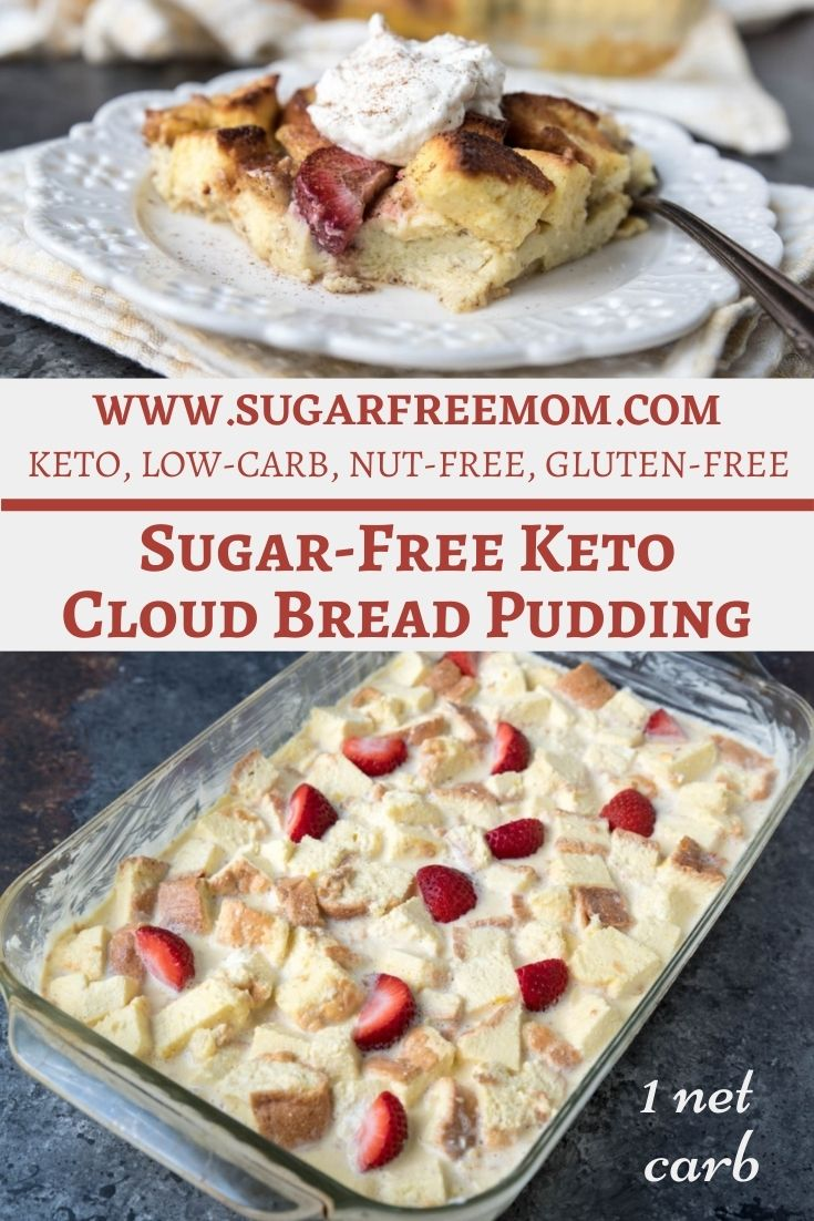 Sugar Free Keto Cloud Bread Pudding (Low Carb, Gluten Free)