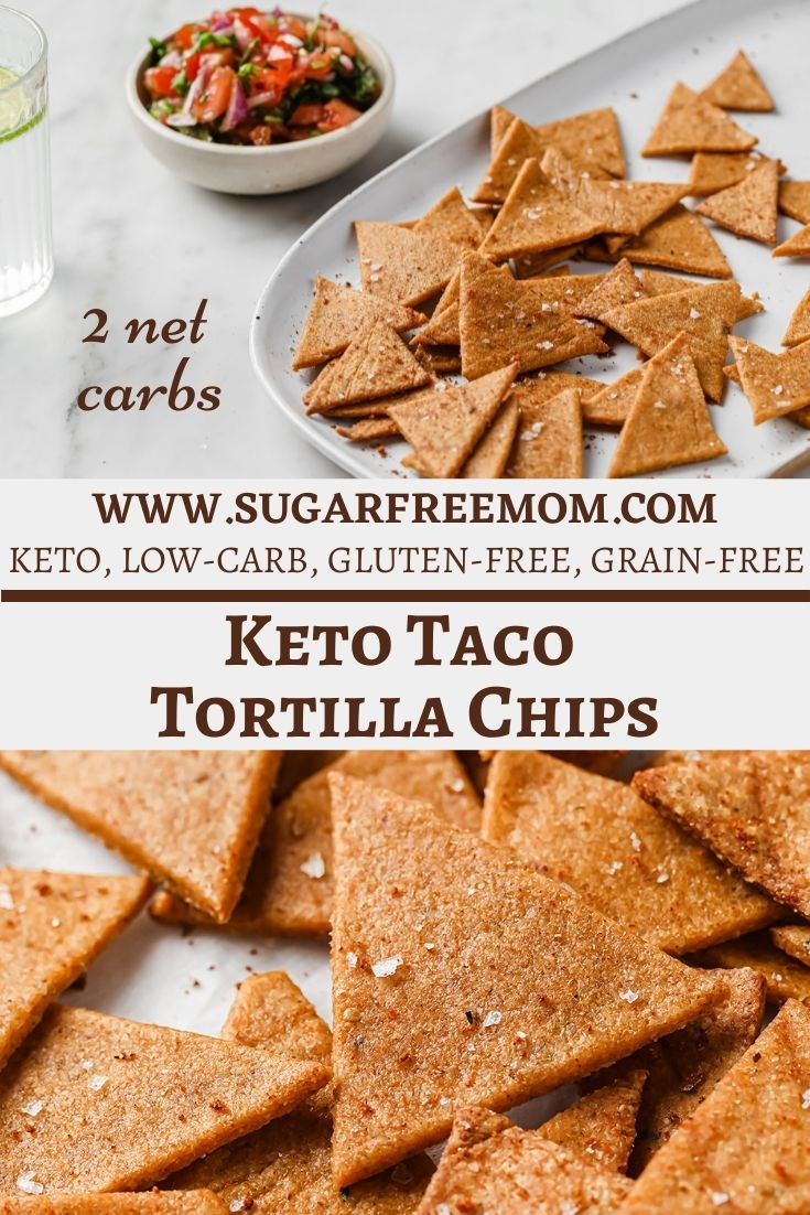 Low Carb Keto Taco Tortilla Chips (Air Fryer or Oven)