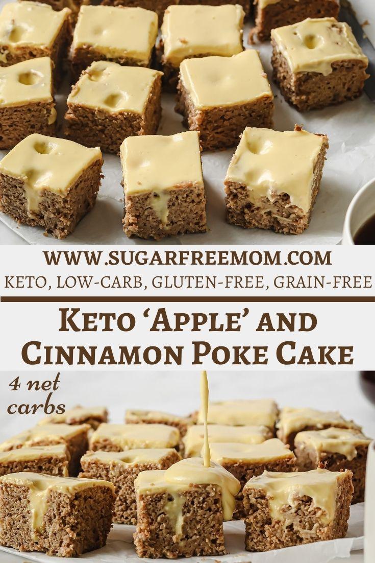 Low Carb Keto Apple Poke Cake
