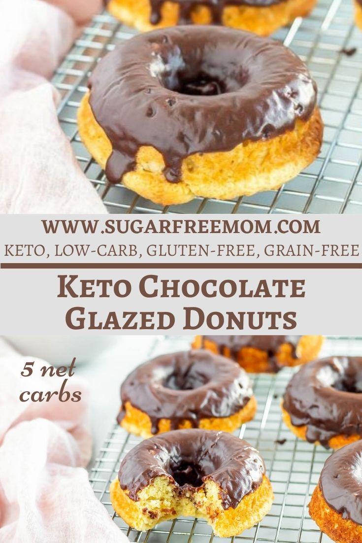 Sugar Free Chocolate Glazed Donuts (Keto, Gluten Free, Low Carb)