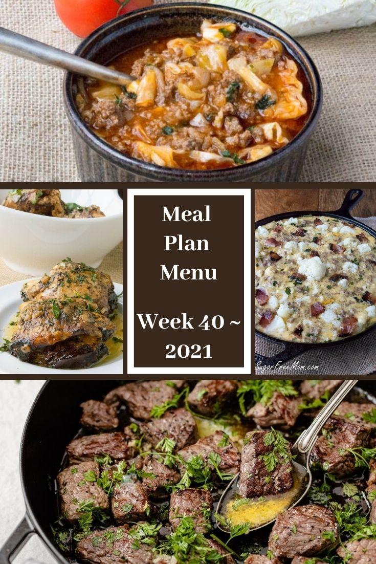 Low-Carb Keto Fasting Meal Plan Menu Week 41