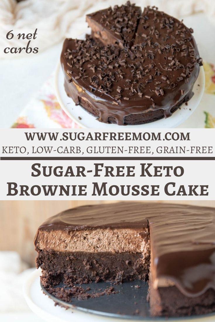 Sugar Free Keto Brownie Mousse Cake (Gluten Free, Nut Free)